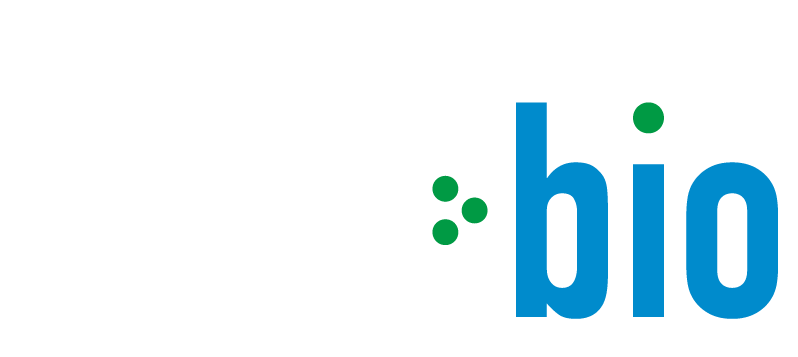 JBM Bio blue and white logo