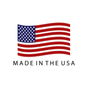 Made in the USA symbol with flag